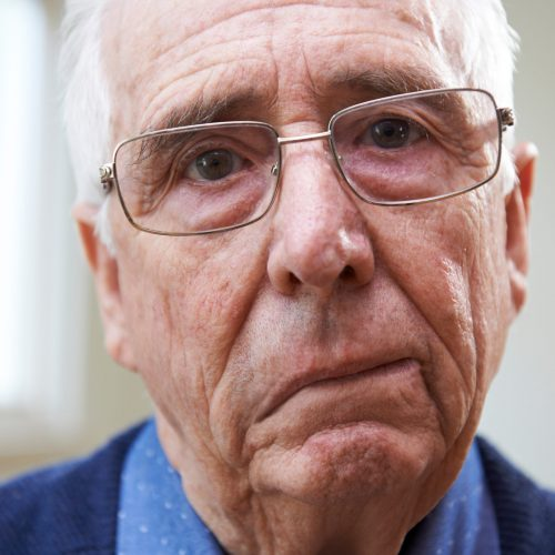 Portrait,Of,Senior,Man,Suffering,From,Stroke